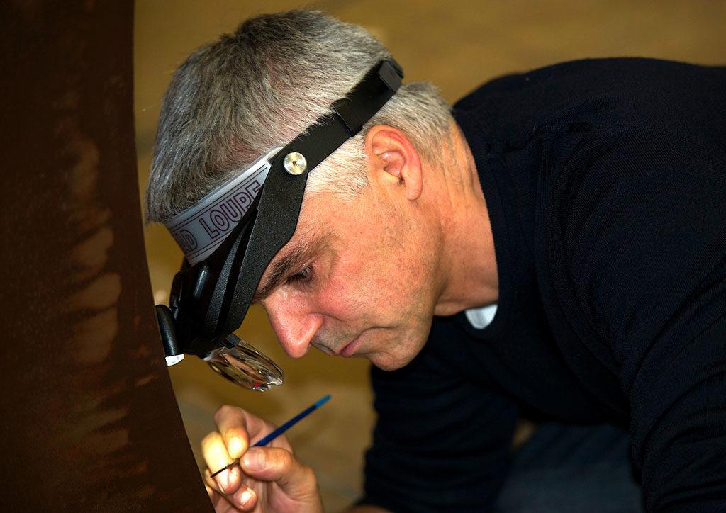 Portrait de Guillevic artiste visuel