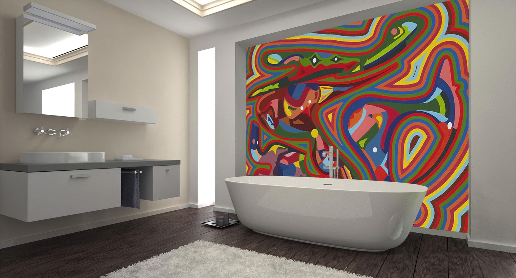 Peinture de Guillevic intitulée La Grenouille pour une salle de bains