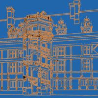 dessin et couleur numérique anne de bretagne chateau de blois