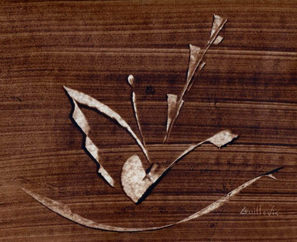 dessin contemporain au brun guillevic