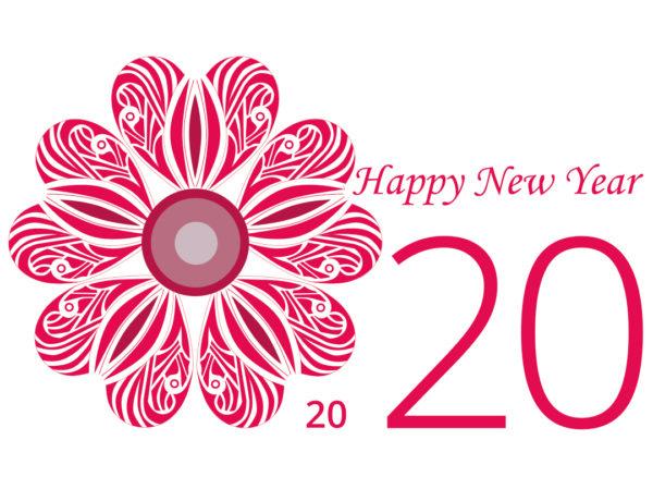 Face recto de la carte de voeux 2020 avec une rose héraldique.