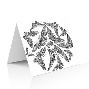 Douze papillons dans un cercle pour cette carte illustrée par Guillevic