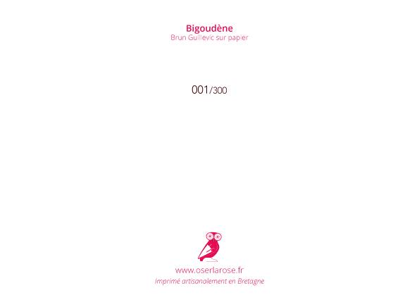 Brun Guillevic sur papier Bigoudene