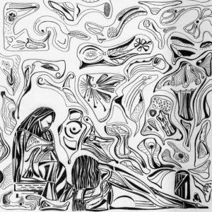 crayon sur papier pour ce dessin représentant le parfum, une œuvre de guillevic OSER LA ROSE