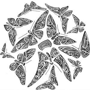 Dessin sur papier réalisé par guillevic